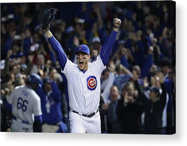 Three Quarter Length Acrylic Print featuring the photograph Anthony Rizzo by Jonathan Daniel