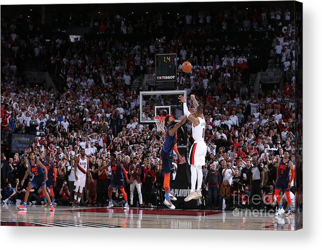 Playoffs Acrylic Print featuring the photograph Damian Lillard by Sam Forencich