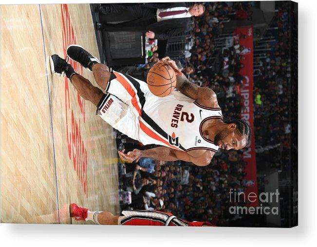 Nba Pro Basketball Acrylic Print featuring the photograph Kawhi Leonard by Andrew D. Bernstein