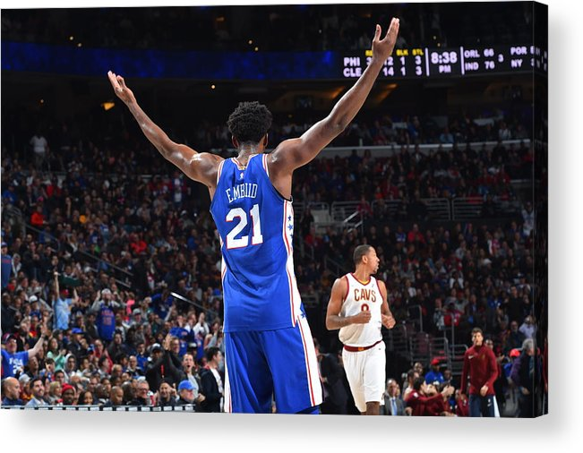 Crowd Acrylic Print featuring the photograph Joel Embiid by Jesse D. Garrabrant
