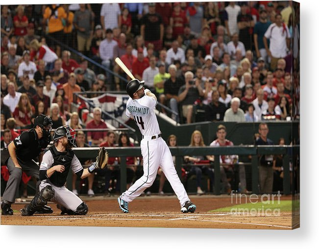Playoffs Acrylic Print featuring the photograph Paul Goldschmidt by Christian Petersen