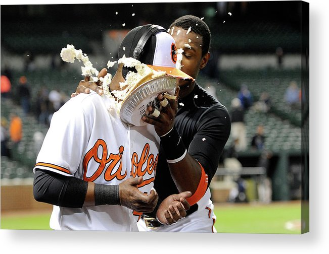 People Acrylic Print featuring the photograph Adam Jones by Greg Fiume