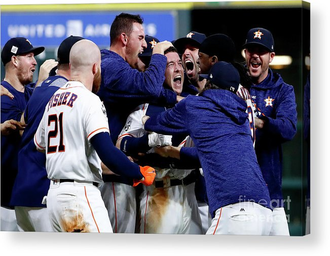 Alex Bregman Acrylic Print featuring the photograph Alex Bregman by Jamie Squire
