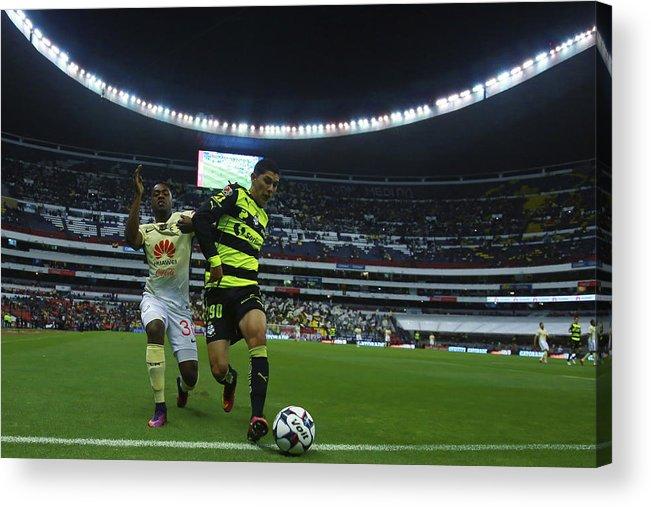Event Acrylic Print featuring the photograph America v Santos Laguna - Torneo Apertura 2016 Liga MX by Miguel Tovar