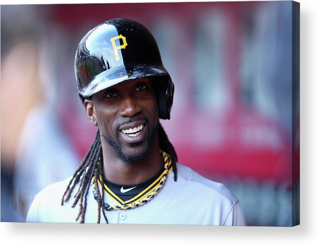 Great American Ball Park Acrylic Print featuring the photograph Andrew Mccutchen by Andy Lyons