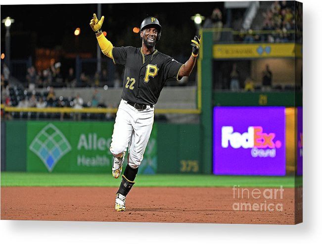 Second Inning Acrylic Print featuring the photograph Andrew Mccutchen by Justin Berl