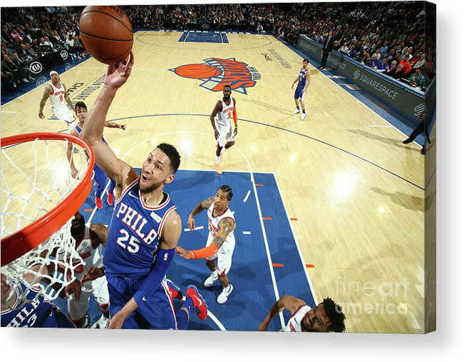 Sports Ball Acrylic Print featuring the photograph Ben Simmons by Nathaniel S. Butler