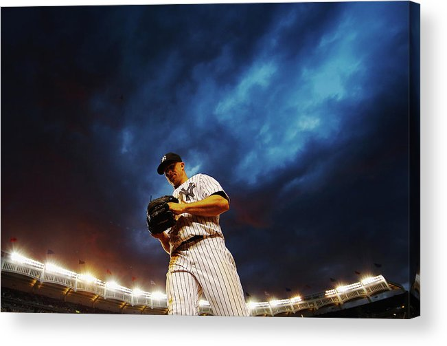 Three Quarter Length Acrylic Print featuring the photograph Brett Gardner by Al Bello