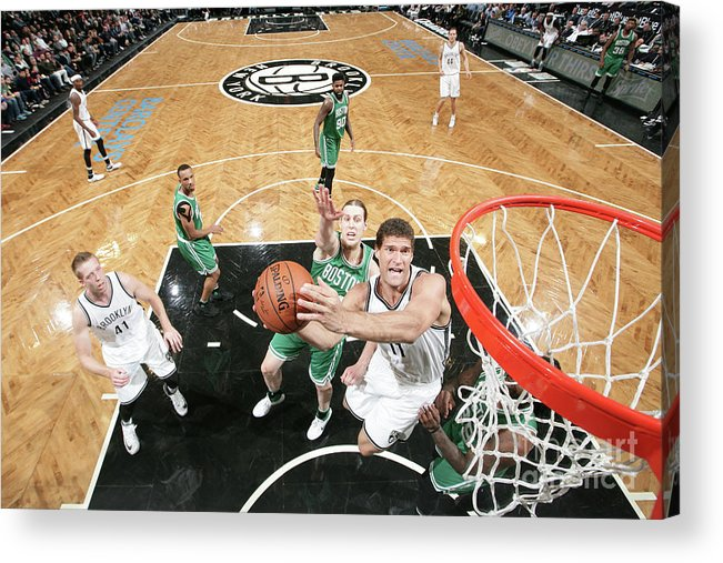 Nba Pro Basketball Acrylic Print featuring the photograph Brook Lopez by Nathaniel S. Butler