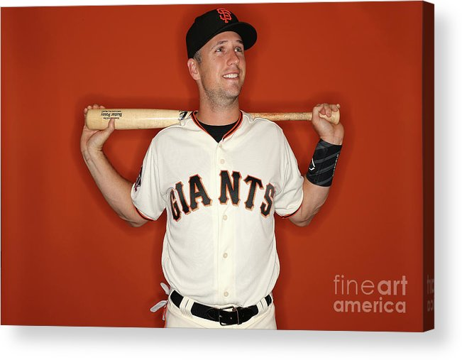 Media Day Acrylic Print featuring the photograph Buster Posey by Patrick Smith