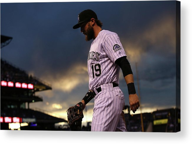 National League Baseball Acrylic Print featuring the photograph Charlie Blackmon by Doug Pensinger