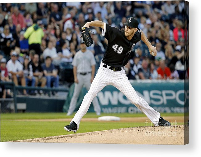 Second Inning Acrylic Print featuring the photograph Chris Sale by Jon Durr