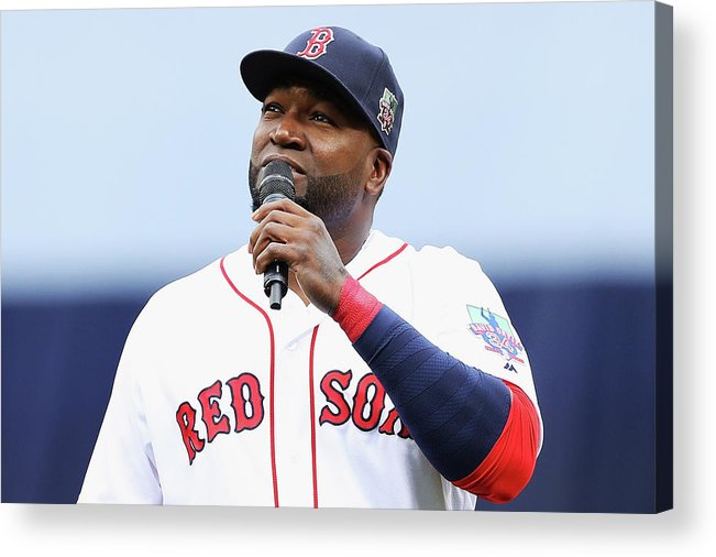 Crowd Acrylic Print featuring the photograph David Ortiz by Maddie Meyer