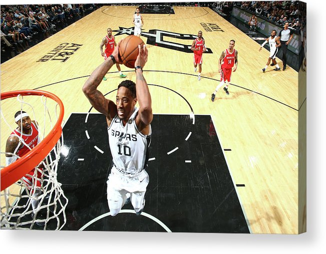 Nba Pro Basketball Acrylic Print featuring the photograph Demar Derozan by Nathaniel S. Butler