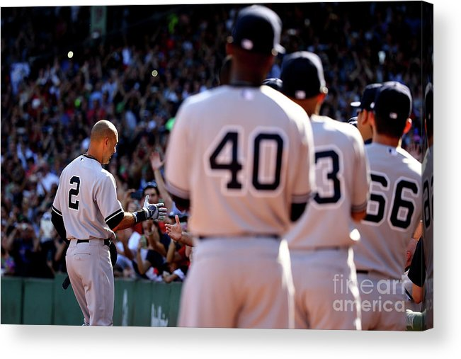American League Baseball Acrylic Print featuring the photograph Derek Parks by Al Bello