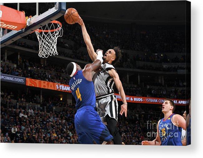 Playoffs Acrylic Print featuring the photograph Derrick White by Garrett Ellwood