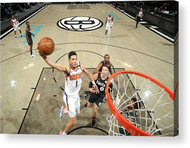 Nba Pro Basketball Acrylic Print featuring the photograph Devin Booker by Nathaniel S. Butler