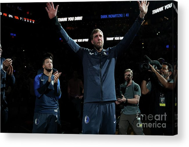 Nba Pro Basketball Acrylic Print featuring the photograph Dirk Nowitzki by Darren Carroll