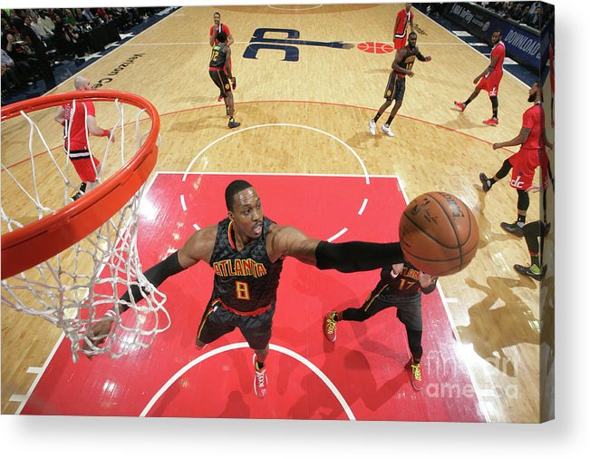Nba Pro Basketball Acrylic Print featuring the photograph Dwight Howard by Ned Dishman