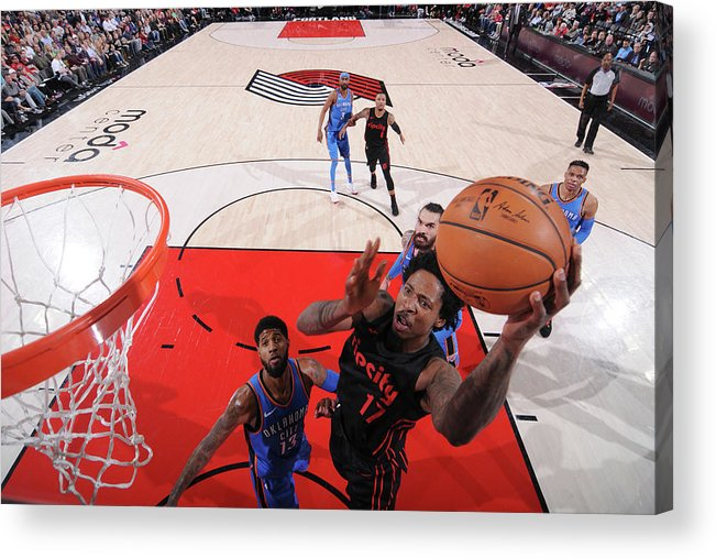 Nba Pro Basketball Acrylic Print featuring the photograph Ed Davis by Sam Forencich