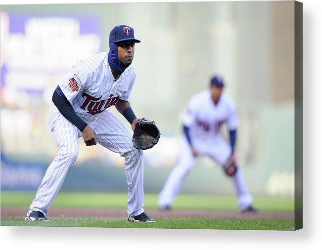 Game Two Acrylic Print featuring the photograph Eduardo Nunez by Hannah Foslien