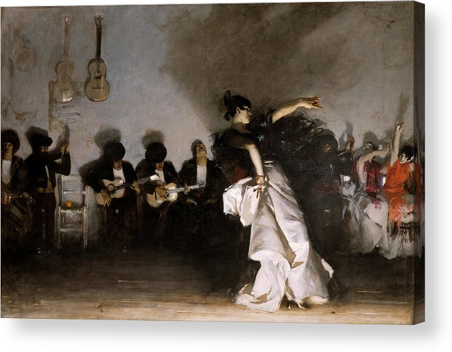 John Singer Sargent Acrylic Print featuring the painting El Jaleo by John Singer Sargent