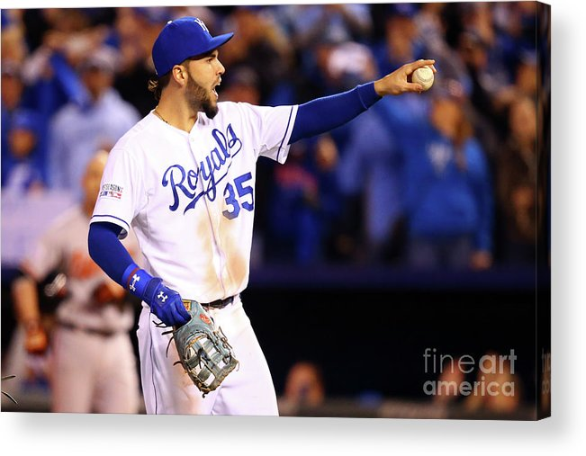 People Acrylic Print featuring the photograph Eric Hosmer by Dilip Vishwanat
