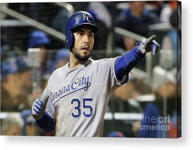 People Acrylic Print featuring the photograph Eric Hosmer by Doug Pensinger