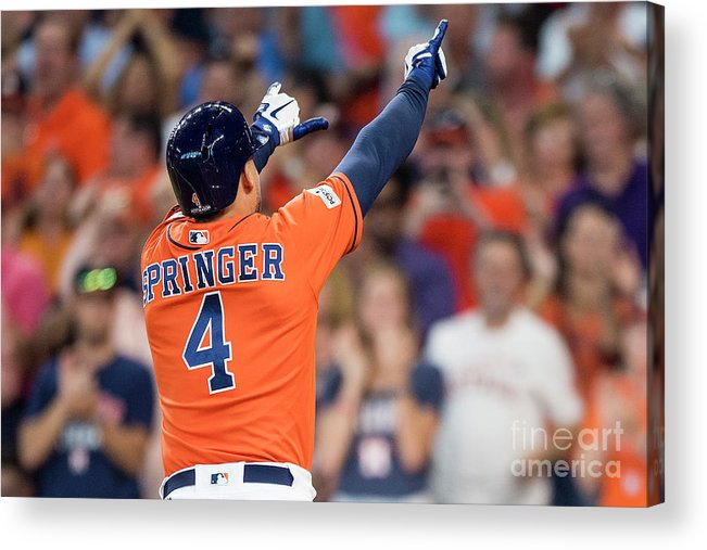 Game Two Acrylic Print featuring the photograph George Springer by Billie Weiss/boston Red Sox