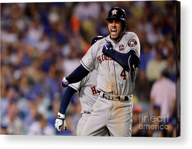 Game Two Acrylic Print featuring the photograph George Springer by Harry How