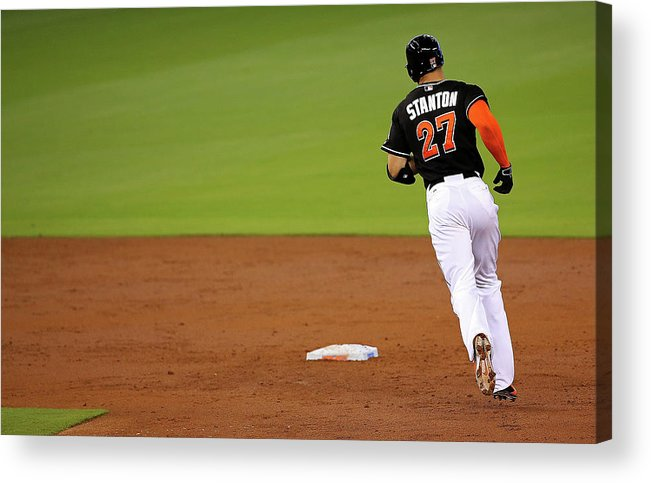 People Acrylic Print featuring the photograph Giancarlo Stanton by Mike Ehrmann