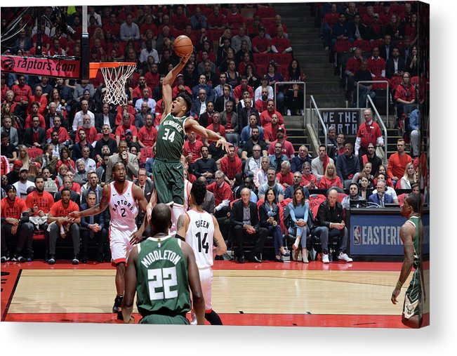 Playoffs Acrylic Print featuring the photograph Giannis Antetokounmpo by Jesse D. Garrabrant