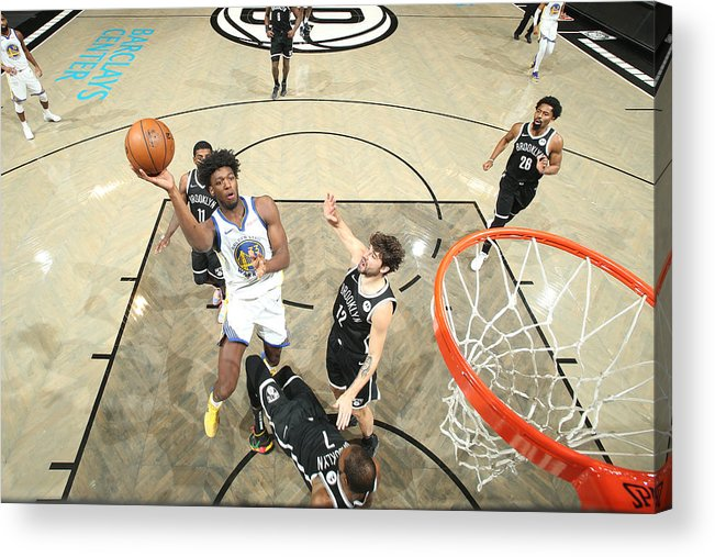 Nba Pro Basketball Acrylic Print featuring the photograph Golden State Warriors v Brooklyn Nets by Nathaniel S. Butler