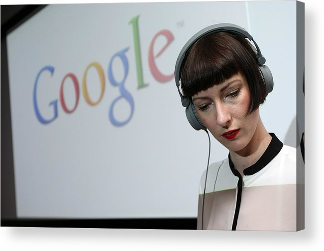 Corporate Business Acrylic Print featuring the photograph Google Opens New Berlin Office by Adam Berry