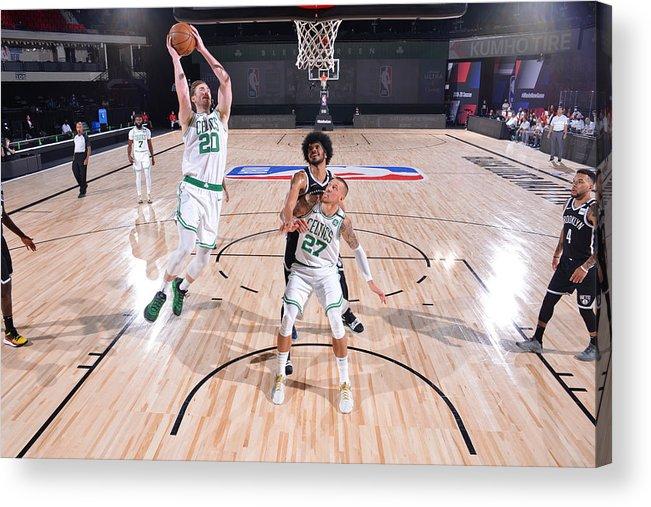 Nba Pro Basketball Acrylic Print featuring the photograph Gordon Hayward by Bill Baptist