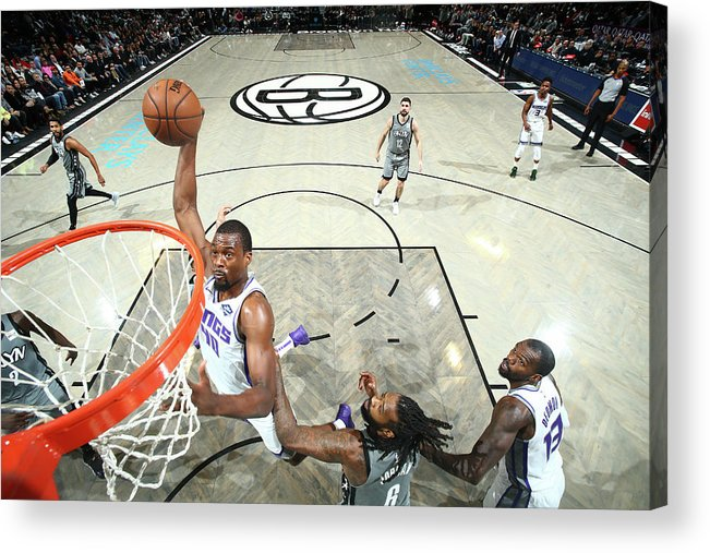 Nba Pro Basketball Acrylic Print featuring the photograph Harrison Barnes by Nathaniel S. Butler