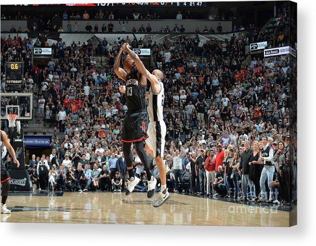Nba Pro Basketball Acrylic Print featuring the photograph James Harden by Mark Sobhani
