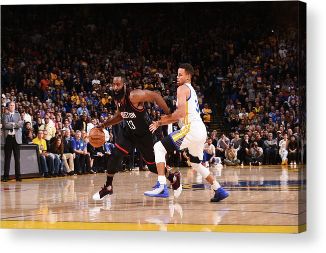 Nba Pro Basketball Acrylic Print featuring the photograph James Harden by Noah Graham