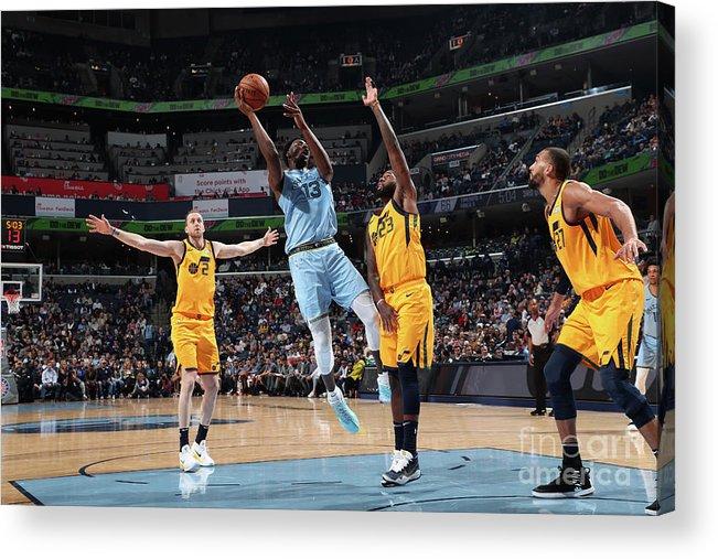 Nba Pro Basketball Acrylic Print featuring the photograph Jaren Jackson by Joe Murphy