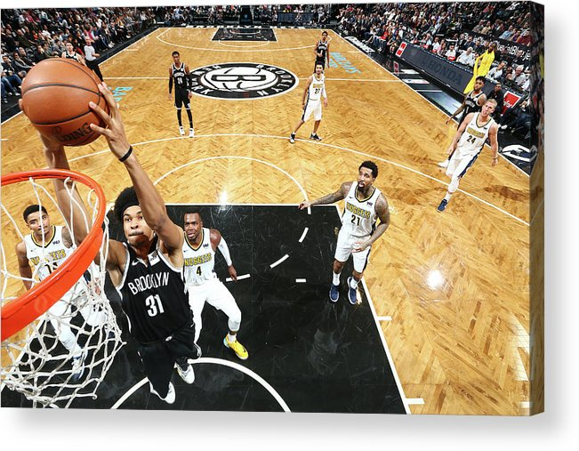 Nba Pro Basketball Acrylic Print featuring the photograph Jarrett Allen by Nathaniel S. Butler
