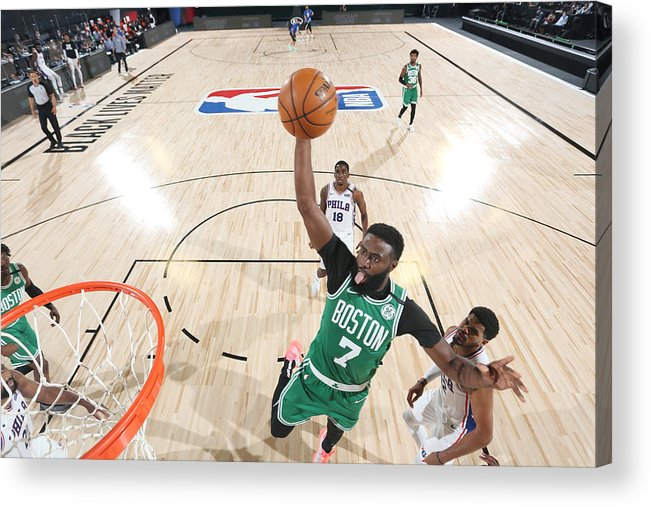 Playoffs Acrylic Print featuring the photograph Jaylen Brown by David Sherman
