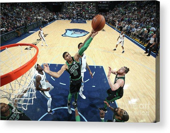 Nba Pro Basketball Acrylic Print featuring the photograph Jayson Tatum by Joe Murphy