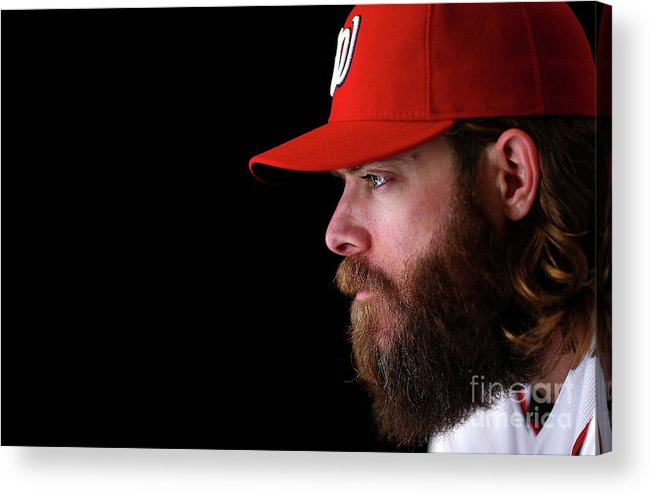Media Day Acrylic Print featuring the photograph Jayson Werth by Mike Ehrmann