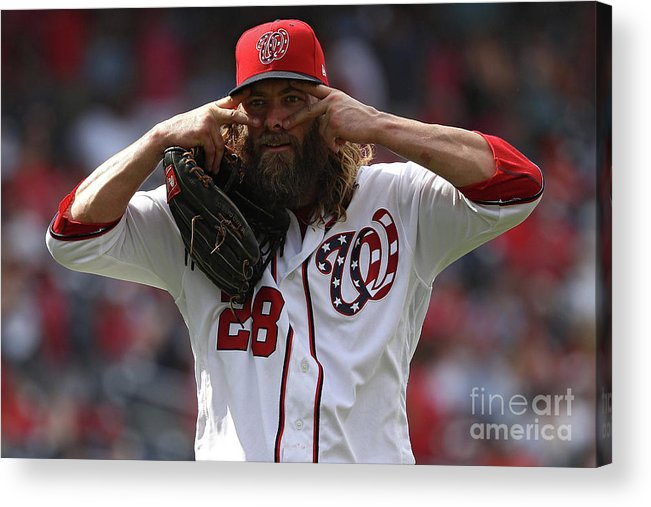 People Acrylic Print featuring the photograph Jayson Werth by Patrick Smith