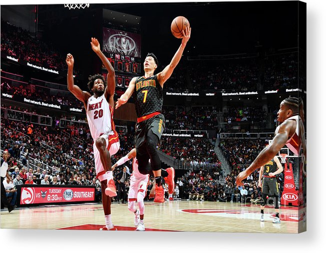 Atlanta Acrylic Print featuring the photograph Jeremy Lin by Scott Cunningham