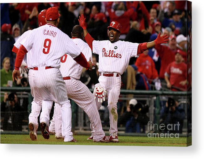 Playoffs Acrylic Print featuring the photograph Jimmy Rollins by Nick Laham