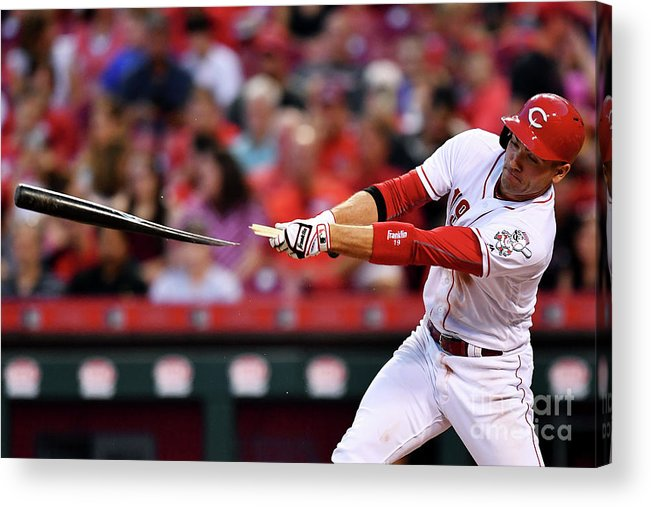Great American Ball Park Acrylic Print featuring the photograph Joey Votto by Jamie Sabau