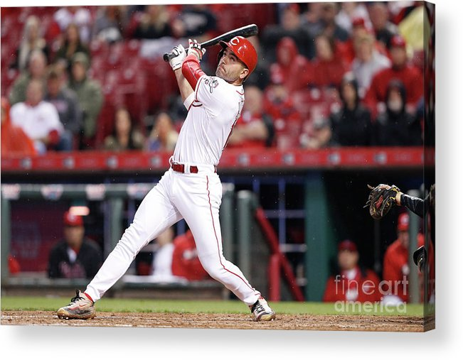 Great American Ball Park Acrylic Print featuring the photograph Joey Votto by Joe Robbins