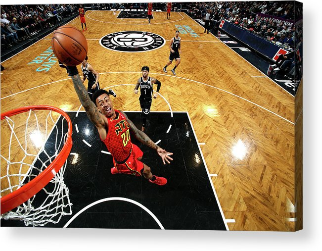 Nba Pro Basketball Acrylic Print featuring the photograph John Collins by Nathaniel S. Butler