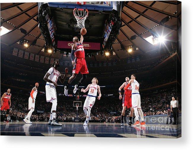 Nba Pro Basketball Acrylic Print featuring the photograph John Wall by Nathaniel S. Butler